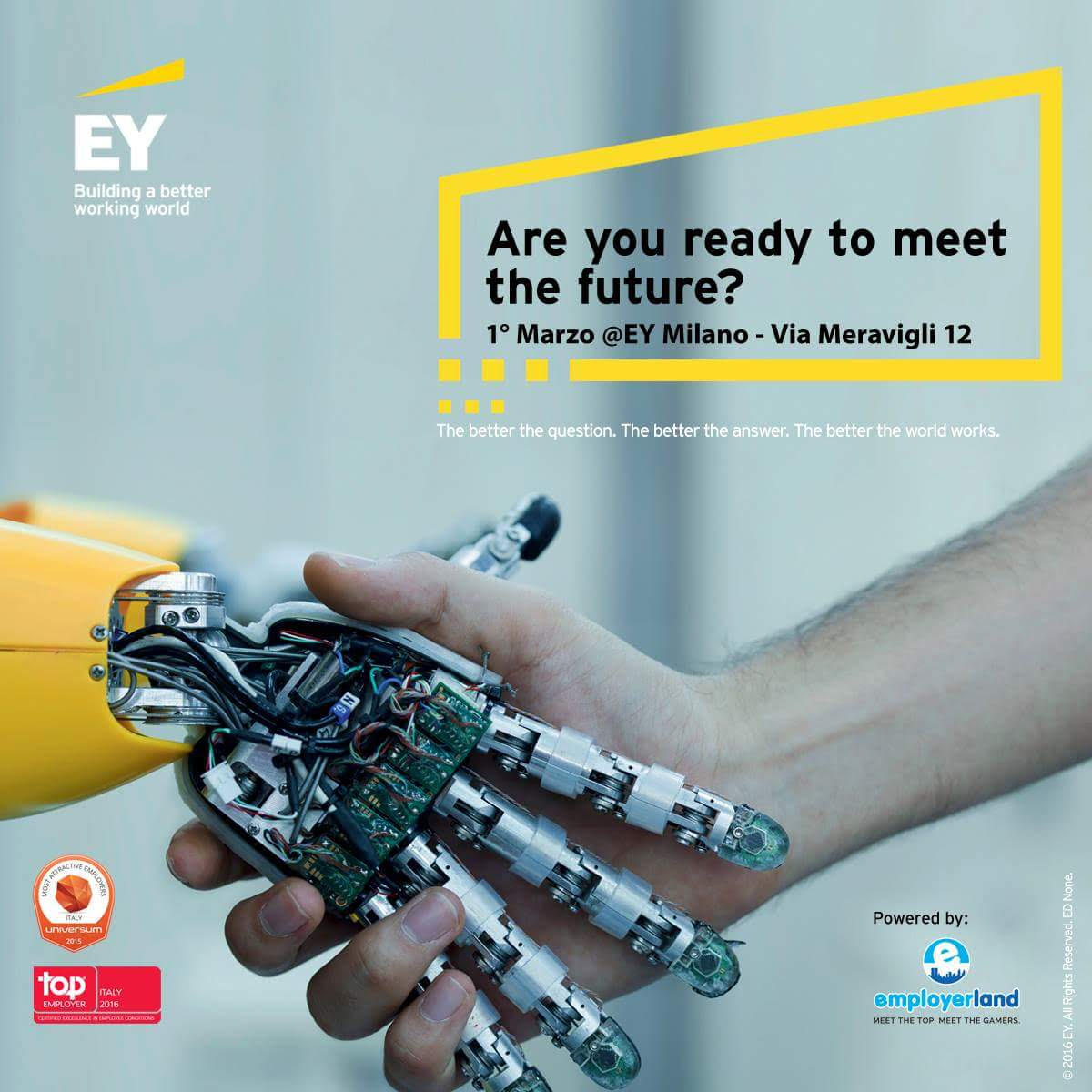 ey organizza l evento meet the future per laureati
